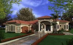 one story home mediterranean house plans luxury 1 story waterfront home