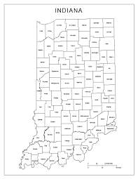 Indiana Road Map Map Of State Indiana With Its Cities Counties And Road Map In Of