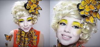 Butterfly Halloween Costumes Girls Hunger Games Diy Effie Trinket Butterfly Makeup U0026 Costume
