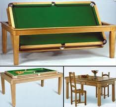 dining table converts to pool table 15 unusual and creative pool tables