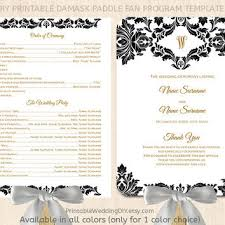 wedding program paddle fan template best wedding program fans products on wanelo