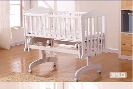 Child Craft Camden 4 In 1 Convertible Crib by Rocking Baby Crib Saplings Glider Lockable Cradle Solid Wood