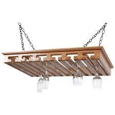 homecomforts com sawbuck 24 glass hanging stemware rack