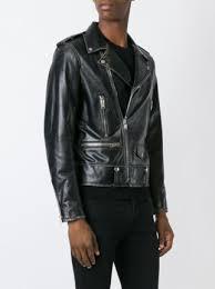 buy biker jacket saint laurent distressed biker jacket 4 990 buy online mobile