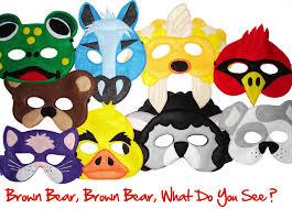 Brown Bear Halloween Costume Felt Masks Collection Magical Attic
