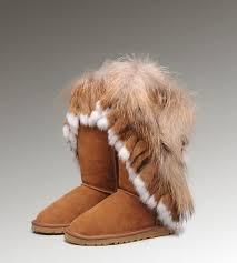 womens ugg boots fox fur ugg fox fur boots 5825 chestnut ugg bailey button triplet
