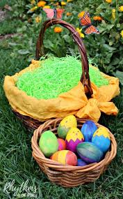 easter egg baskets to make eco friendly easter basket tips and ideas rhythms of play