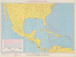 Map Of Central America And Mexico by Print Of Isogonic Chart Of Mexico Central America And The West