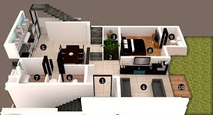 Row Houses Floor Plans Woodshire Developers 3d Row House Type A1 Floor Plans