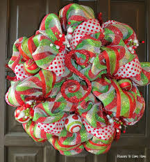 make a deco mesh christmas tree wreath christmas lights decoration