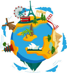 travel clipart images Earth clip art global travel route vector 3206 3494 transprent png