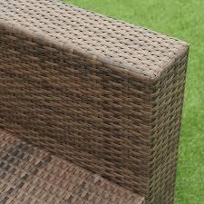Aluminum Frame Wicker Patio Furniture - 7 pcs patio rattan sectional aluminum frame furniture set