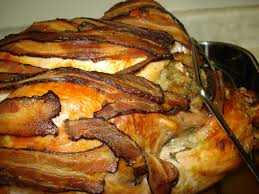 thanksgiving bacon wrapped turkey recipe turkey ruby reduction