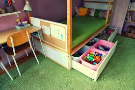 ikea kura bed hack build a sturdy platform with drawers that will