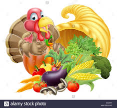 thanksgiving golden horn of plenty cornucopia of vegetables