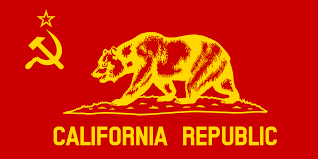 Russian Flag With Hammer And Sickle File Flag Of Communist California Republic Svg Wikimedia Commons