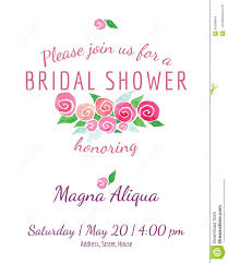 Bridal Shower Invitations Cards Bridal Shower Invitation Vector Watercolor Flowers Stock Vector