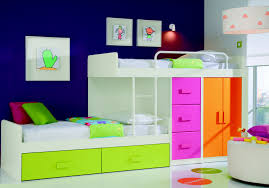 Modern Kid Bedroom Furniture Modern Kids Room Design Blue Cream Smooth Minimalist Laminated