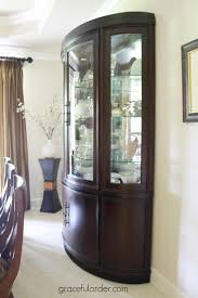 decorating a china cabinet hutch graceful order