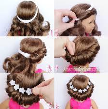 tuck in hairstyles doll hairstyle headband tuck bun americangirlfan