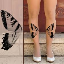 gorgeous butterfly wing on leg tattoomagz
