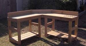 gardening bench new all cedar corner potting bench plant gardening benches