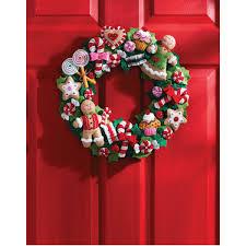 Heart Home Decor Bucilla Seasonal Felt Home Decor Cookies And Candy Wreath
