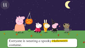 kids halloween party clipart peppa pig book pumpkin party u2013 android apps on google play