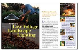 installing low voltage landscape lighting installing low voltage landscape lighting greenbuildingadvisor com