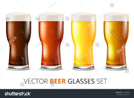 clinking glasses emoji set glasses light dark beer water stock vector 311483906