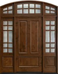 front door custom single with 2 sidelites solid wood with