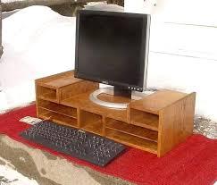 Office Desk Risers Office Desk Risers Oak Computer Organizer Monitor Stand Riser By