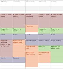 get a life phd start the semester off right make a weekly template