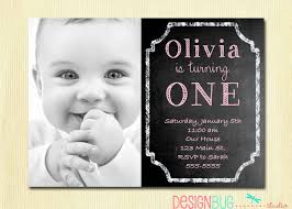 1st birthday invitation custom chalkboard photo