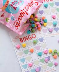 valentines bingo conversation hearts bingo