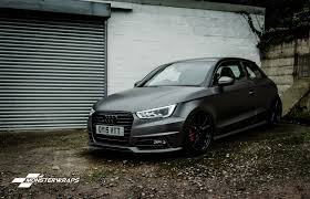 glitter audi audi a1 tsfi satin dark grey and satin black full wrap
