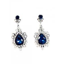 statement earrings princess sapphire gemstone statement earrings
