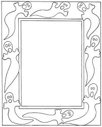 halloween ghost frame free halloween coloring pages print