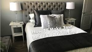 how to make your bed like z gallerie youtube