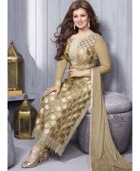 buy online krutarth couture demesne beige net designer dress