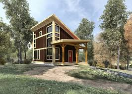 Small Log Homes Floor Plans Brookside 844 Sq Ft From The Cabin Series Of Timber Frame Home