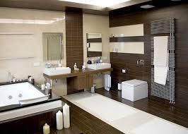 Modern White Bathroom - wood floors tile linoleum jmarvinhandyman