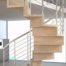 escalier design bois metal escalier en colimaçon marche en bois structure en métal avec