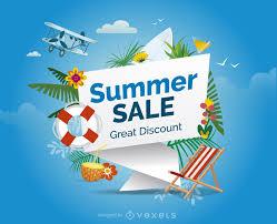 summer sale design with elements vector download