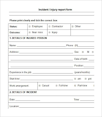 incident report template itil incident report form incident report template