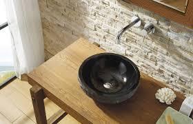 virtu usa adonia bathroom vessel sink in shanxi black granite sinks