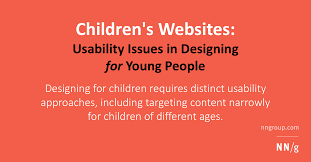 Homepage Design Rules by Children U0027s Websites Usability Issues In Designing For Young People
