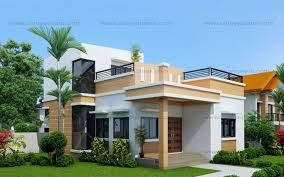 Modern Bungalow House Design With by Maryanne One Storey With Roof Deck Shd 2015025 Pinoy Eplans