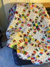 Double Wedding Ring Quilt by All Things Quilty And Artsy Double Wedding Ring Quilt Finished