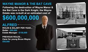 dc how much money does alfred pennyworth earn science fiction